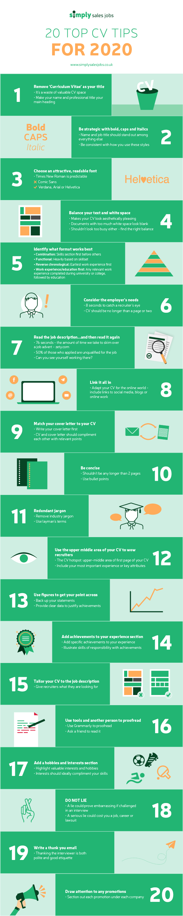 top cv tips for 2020